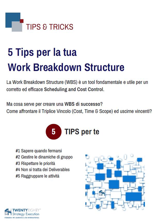 5 Tips per la tua WBS