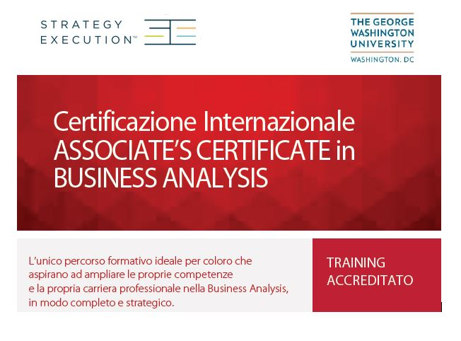 Percorso Formativo in Business Analysis