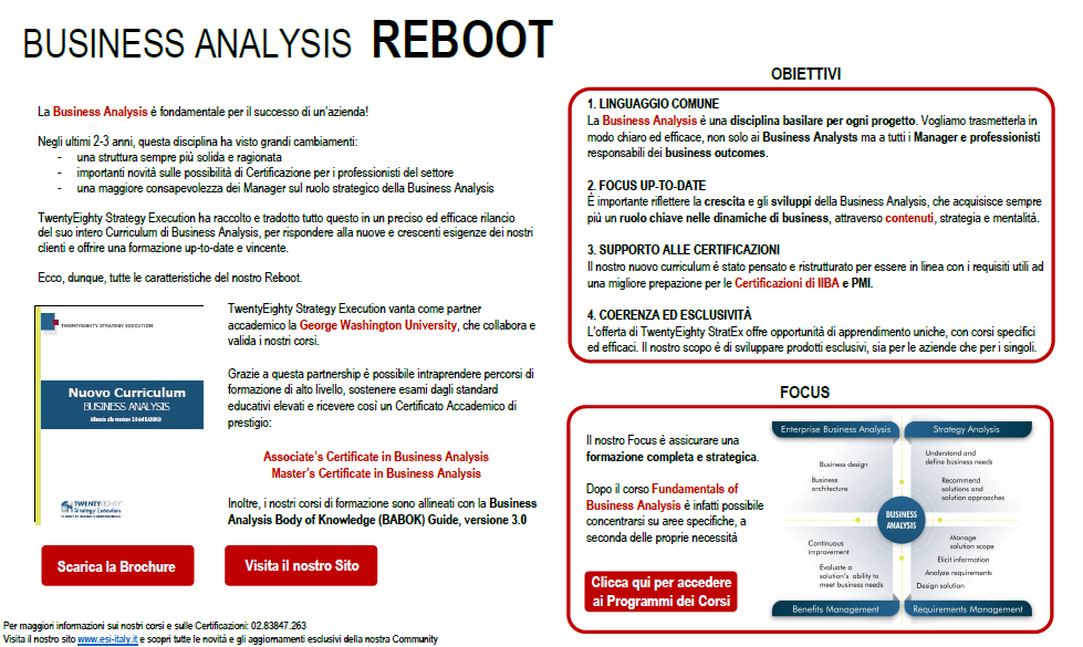 Business Analysis REBOOT