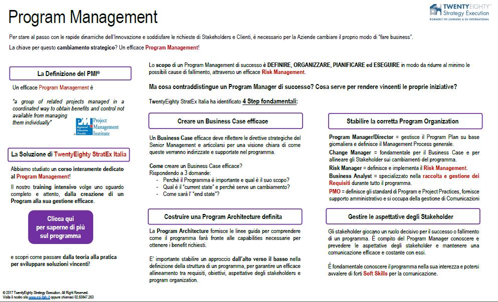 4 Step per un Program Management Efficace