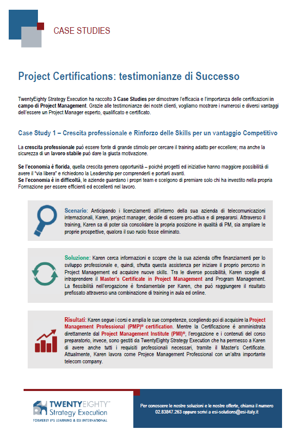 CASE STUDY Project Certifications: testimonianze di Successo