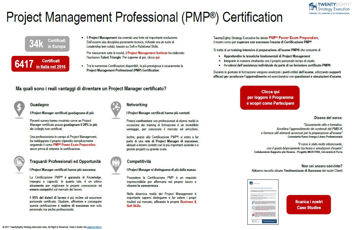 Oltre 6.000 i Certificati PMP® in Italia. E tu?
