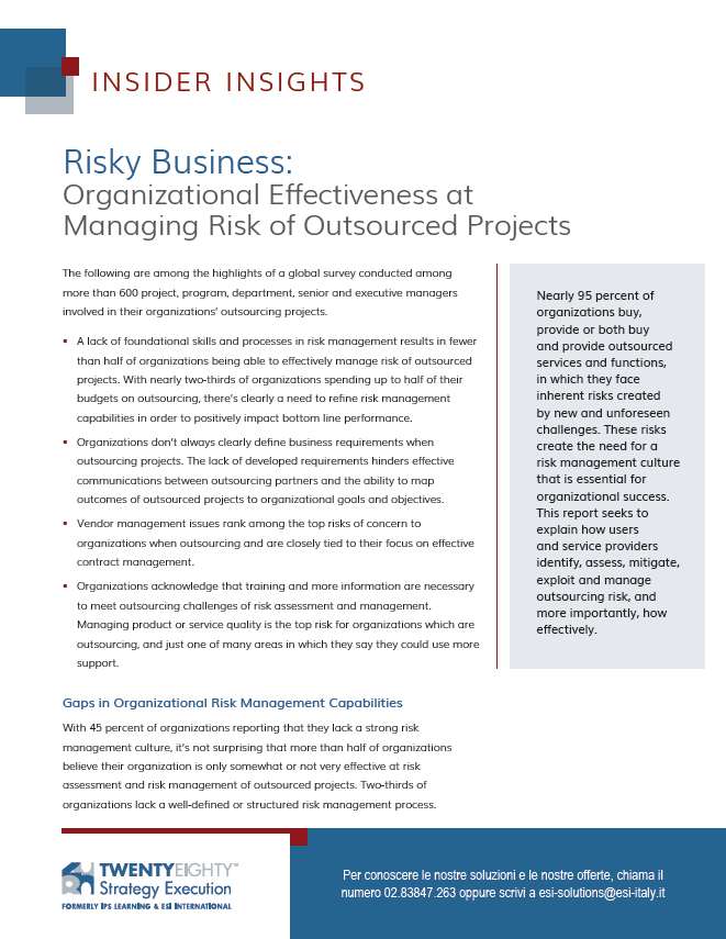 SURVEY Risky Business: Outsourced Projects