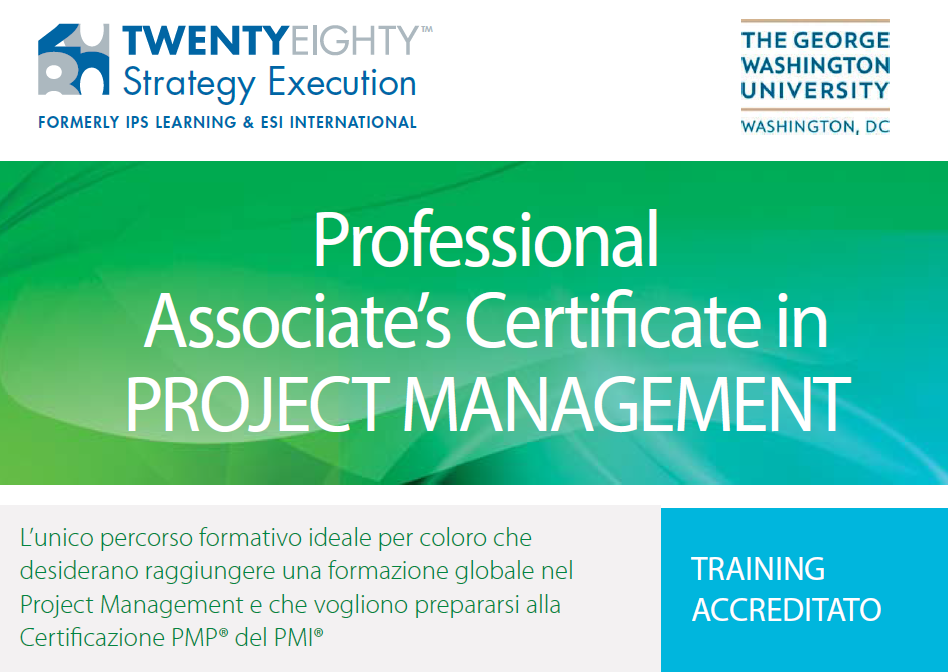 Percorso formativo Project Manager Avanzato