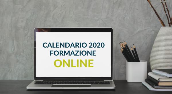 Formazione Online – Calendario 2020